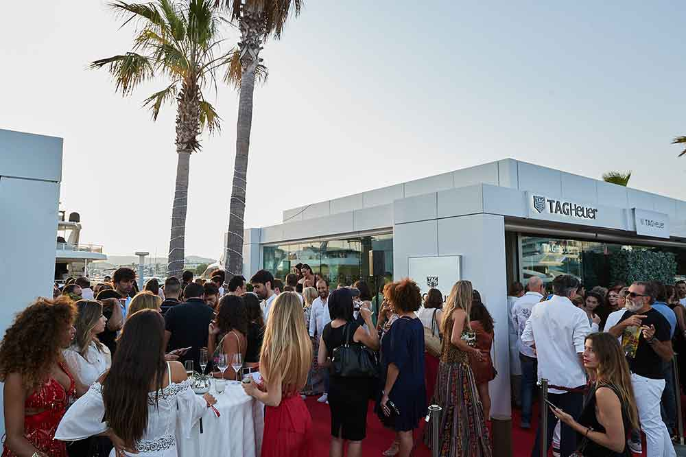 Boutique TAG Heuer en puerto Marina Ibiza, fiesta inauguración
