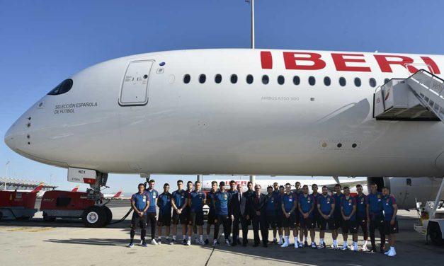Iberia A350 con la Selección Española de Fútbol