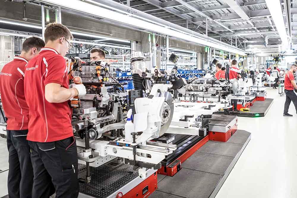 Porsche, planta de producción de Stuttgart