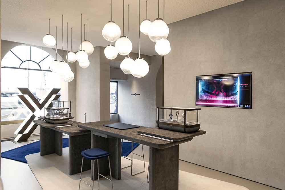 Ulysse Nardin Boutique Ginebra, detalle primer piso