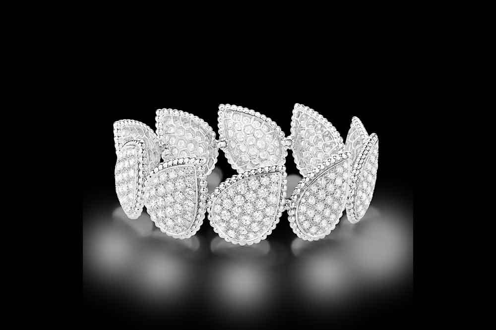 Pulsera en oro blanco y diamantes Boucheron Serpent Bohème