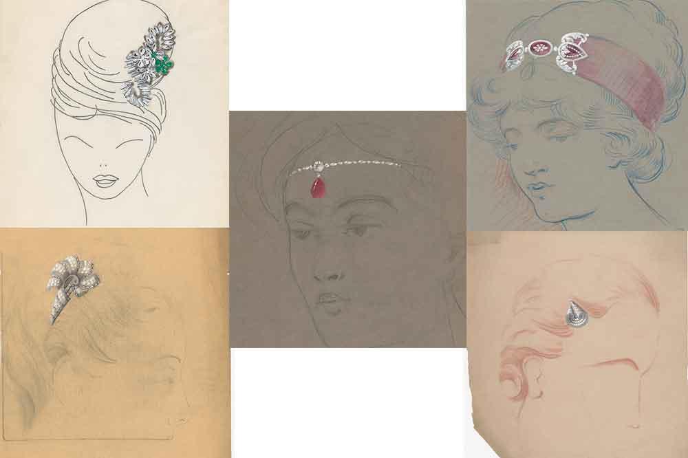 Exposición Chaumet Autrement, joyas accesorios cabeza