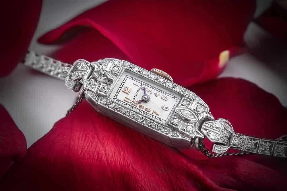 Blancpain reloj de cóctel de Marilyn Monroe, detalle esfera