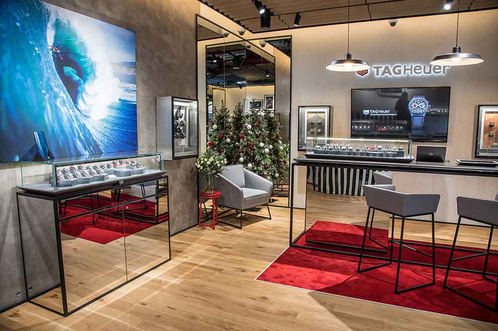 Boutique TAG Heuer Madrid, detalle interior