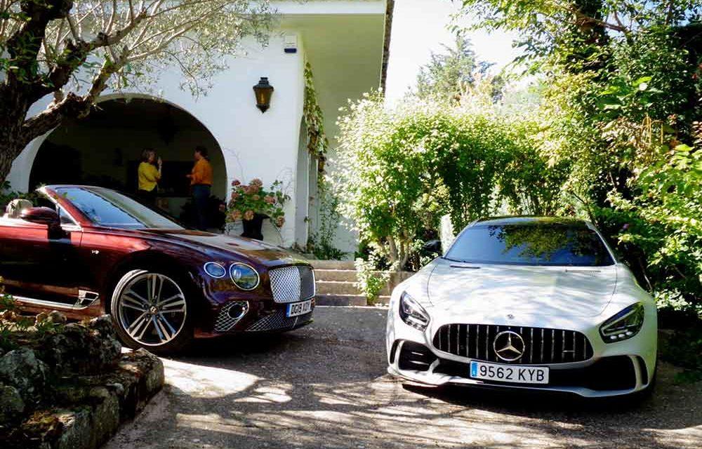 Bentley Continental GTC V8 & Mercedes AMG GT R