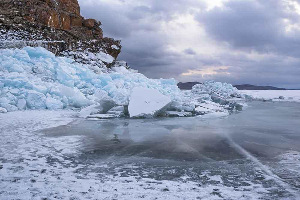 Lake Baikal, detalle orilla