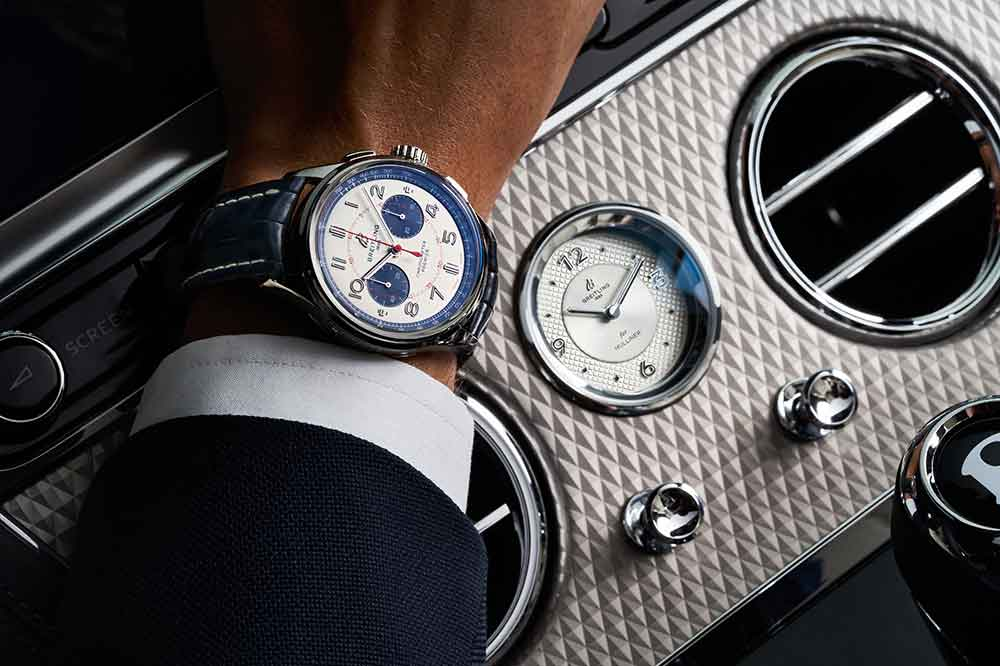 Premier Bentley Mulliner Limited Edition y reloj de a bordo