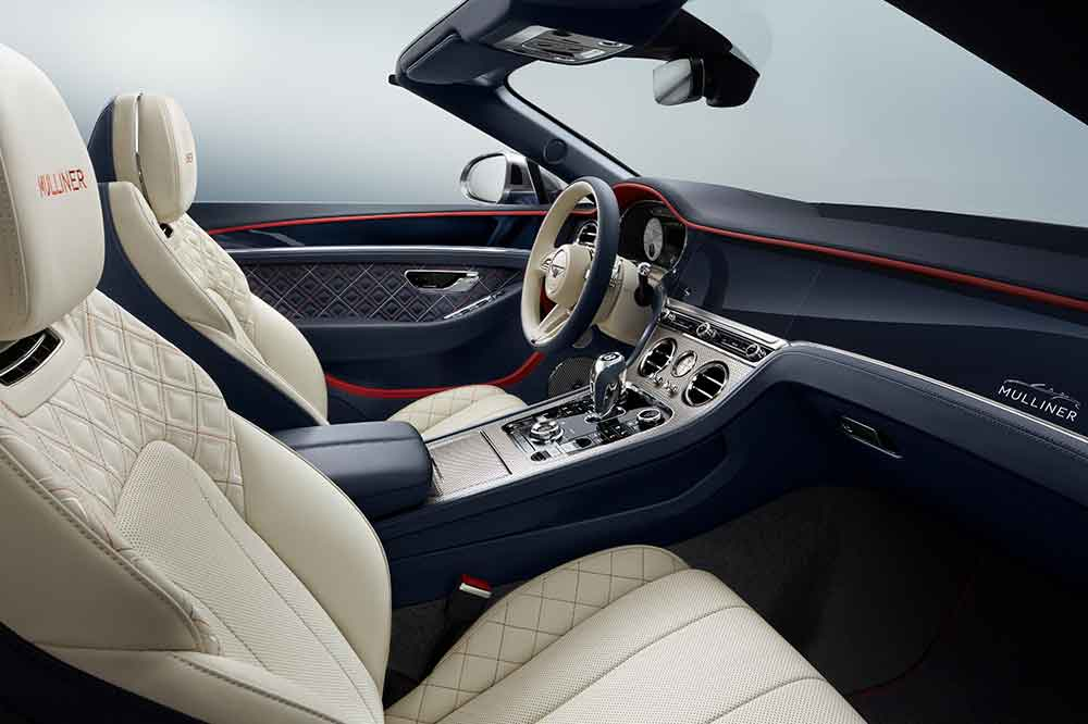 Bentley Continental GT Mulliner Convertible, detalles interior