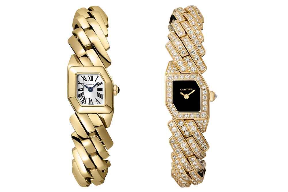 Reloj Maillon de Cartier en oro amarillo, versiones