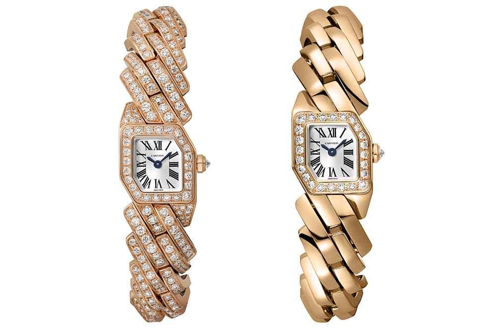 Reloj Maillon de Cartier en oro rosa, versiones