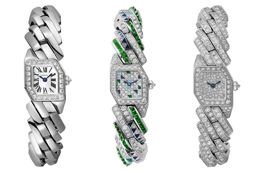 Reloj Maillon de Cartier en oro blanco, versiones