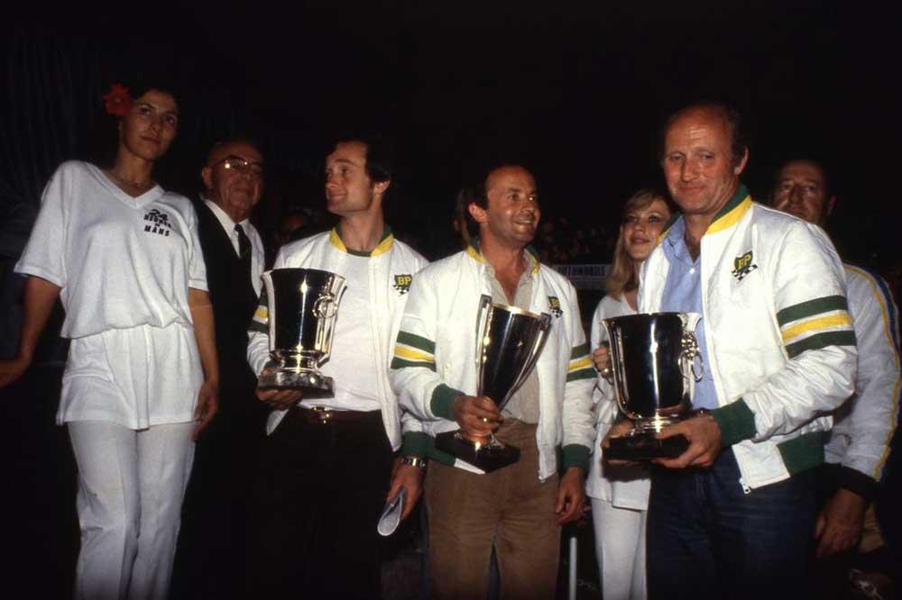 Laurent Ferrier, François Sérvanin y François Trisconi. Le Mans 1979