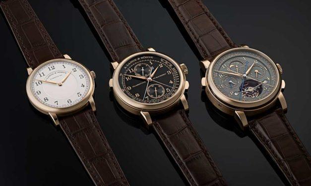 A. Lange & Söhne celebra 175 años de precisión sajona con tres nuevos relojes en edición limitada y oro miel