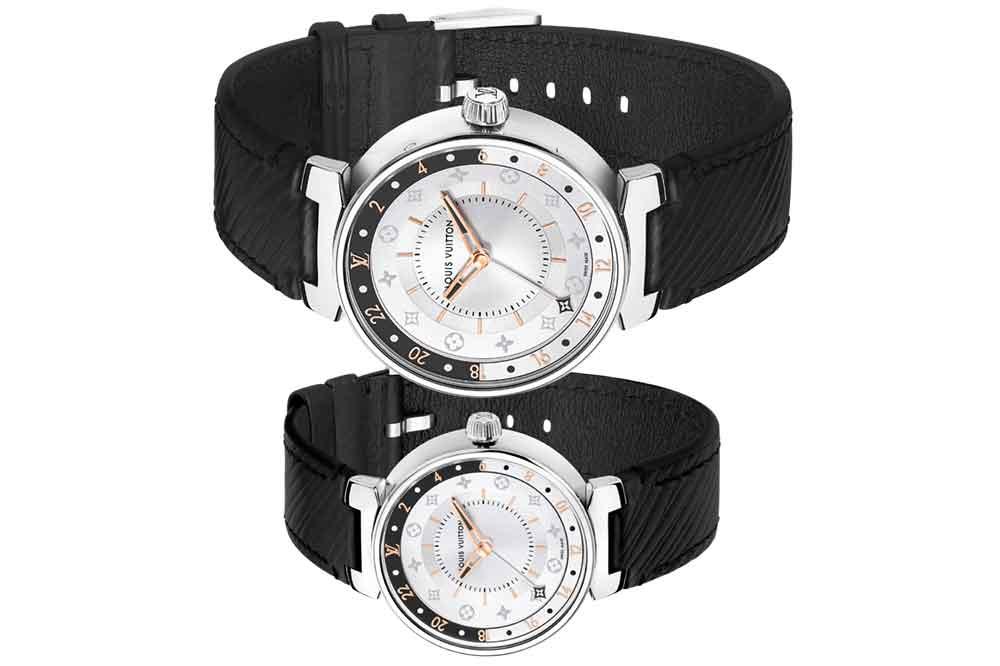 Louis Vuitton Tambour Moon Dual Time Black & White