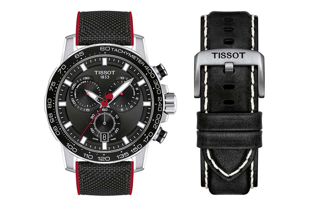 Tissot Supersport Chrono La Vuelta 2020 Special Edition, detalle correas