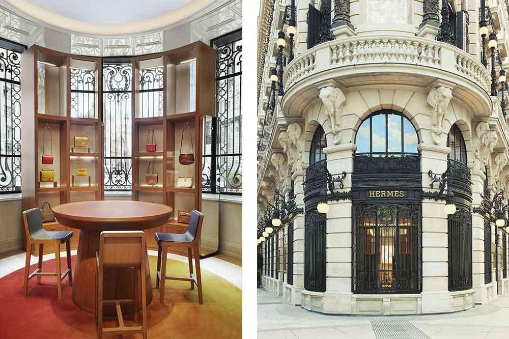 Tienda Hermès en Galería Canalejas, espacio bolsos