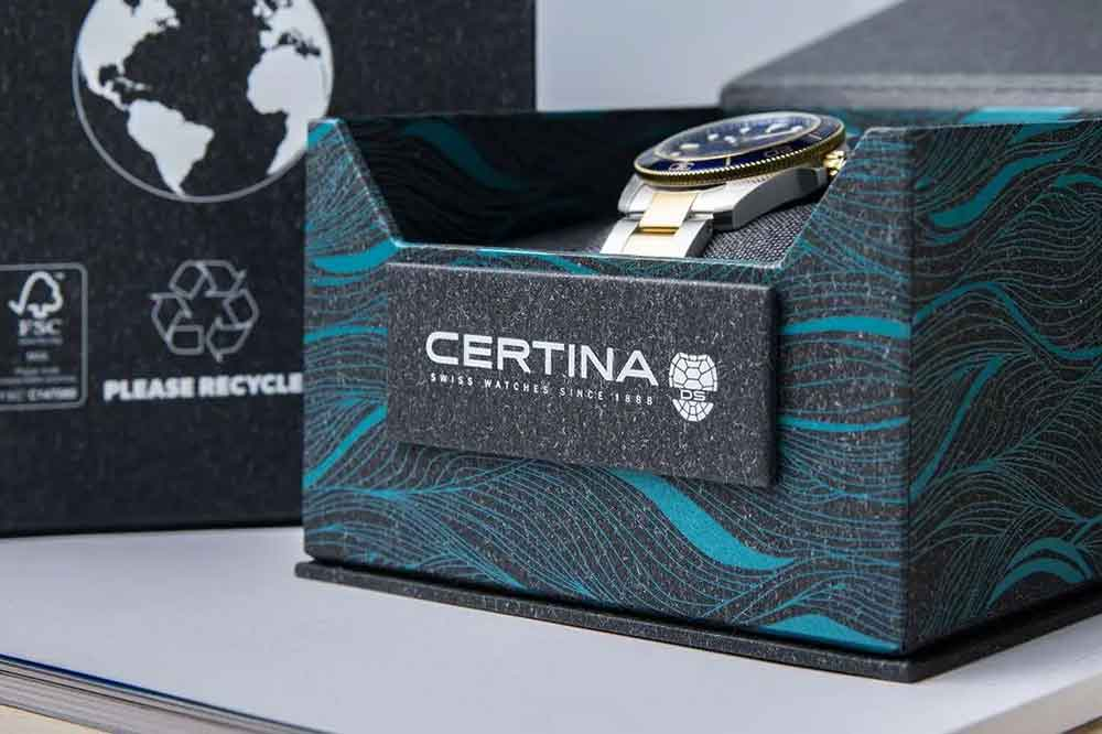Certina DS Action Diver Sea Turtle Conservancy, detalle estuche