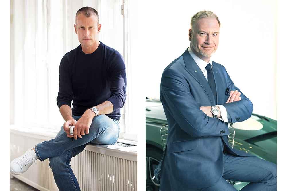Patrick Pruniaux, CEO de Girard-Perregaux y Marek Reichman, Executive Vice President and Chief Creative Officer de Aston Martin